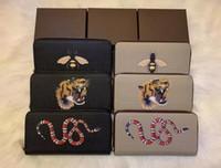 teste padrão animal Único zipper carteira a maneira mais elegante para transportar cerca de dinheiro, cartões e moedas de design homens famosos titular de cartão de bolsa de couro