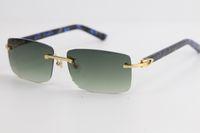 Vendere nuovo modo senza orlo di marmo blu della plancia occhiali da sole 8200757 modo di alta qualità di marca Occhiali da sole migliori occhiali da sole per la guida Eyewear