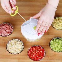 Küchenhelfer Multifunktions Nahrungsmittelzerhacker Knoblauchschneider Gemüsehobel Speedy Chopper Werkzeuge Manueller Fleischwolf heißen Verkauf