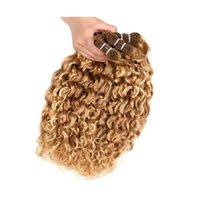 Brazilian P27 613 Water Wave Blonde Human Hair Extensions Unprocessed Human Hair Bundles Weft 100g pcs 3pcs lot