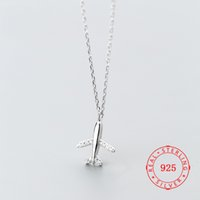 S925 silver necklace Japanese and Korean style fashion aircr...
