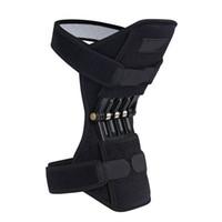 1pc transpirable antideslizante sin deslizamiento de apoyo almohadillas de rodilla potente rebote de resorte de la rodilla