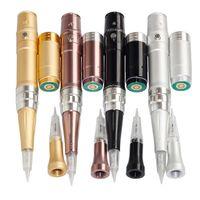 Heißer Verkauf Professionelle Permanent Make-Up Maschine Kits Elektrische Microblading Stift Für Augenbraue Lippen Wiederaufladbare Drahtlose Tätowierpistole