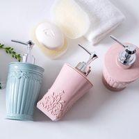 Groothandel 30 stks / partij 400 ml lotion fles plastic container met perspomp multipurpose perfect voor shampoo lotions vloeibare zeep aromatherapie