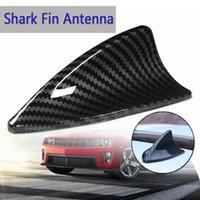 4 Tipo Universal de fibra de carbono Estilo Aleta de tiburón Base de antena Antena decorativa Antenas Antena Enchufe de antena de coche para la mayoría de los automóviles