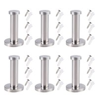 6 PCS for Stainless Steel Wall- Mount Towel Hook Coat Hanger ...