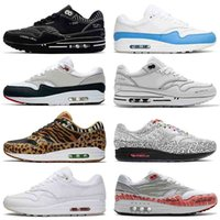 Nike Air Max 1  2020 Novos Desportos Mens Womens Marca Max 1 Formadores Script Esquemático Preto Sketch To Shelf Bred Centre Pompidou Running Shoes Designers Sneakers