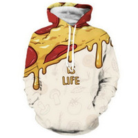 New Fashion Couple Unisex Food Ice Cream Poket 3D Print Casual Cosplay Felpe con cappuccio Felpa Jacket Pullover