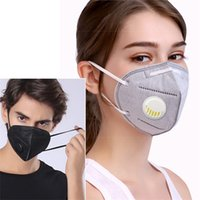 kn95 Masks 5- layer pm2. 5 no woven cotton green with valve re...