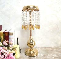 Novo estilo de altura Grande tampo da mesa de cristal Lustre de Cristal Pingente Centrais Do Casamento de Cristal de flores stand centerpieces para casamentos best0918
