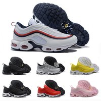 TN Plus Mens Running Shoes For Women Triple White Black Whit...