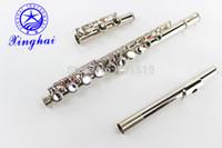 Nuovo arrivo Xinghai 16 Fori Chiusi Flauto di alta qualità E chiave flauto d'argento placcato di superficie strumento musicale con il caso di trasporto