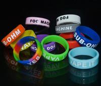 Anillos de silicona coloridos de Vape Bands Anillos de silicona de 22 mm para el tanque DIY Personalizado Bandas de silicona Vape