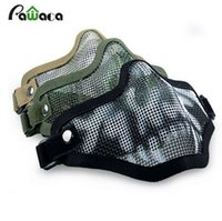 Boutique Tactical Caccia Mental Wire Mezza Maschera Outdoor Bicicletta Riding Field Outdoor CS Mesh Airsoft Mask Paintball Resistant