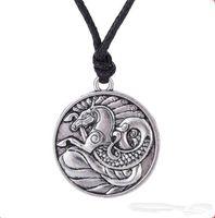Z10 Seahorse Тотем Ожерелье Античная Серебряная Подвеска Морские Украшения Мужской Ирландский Амулет Символы Ожерелье