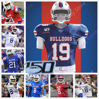 Costumbre Louisiana Tech Bulldogs Jersey de fútbol de la universidad J'Mar Smith Justin Henderson Malik Stanley Ka'Derrion Mason 81 Cee Jay Powell