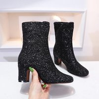 Winter new Designer Women Boots D- Circus ankle boots with gl...