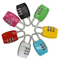 أحمر المحمولة 3 أرقام الجمع قفل TSA قفل الأمتعة حقيبة السفر حقيبة رمز قفل الأسود أصفر أزرق سبيكة الجمع بين لوك 8 ألوان