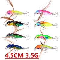 1pcs 8 Color 4. 5cm 3. 5g Bee Fishing Hooks Fishhooks 10# Hook...