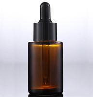 Самые популярные Brown Очистить Матовый 30мл стекло Жидкость Флакон косметический уход за кожей Упаковка флакон-капельница 30мл для продажи
