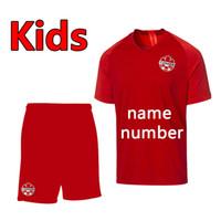 2019 2020 Yeni Kanada Çocuk Kitleri Ev Futbol Jersey Futbol Gömlek 2019 Kanada Ulusal Takım Çocuk Futbol Setleri Dignals Ev Futbol Formaları