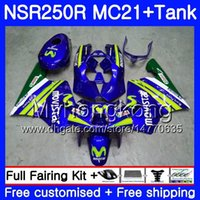 Iniezione per HONDA NSR 250R 250 R MC21 PGM3 NSR250R 90 91 92 93 Movistar Blue 264HM.16 NSR250 R RR NSR250RR 1990 1991 1992 1993 Carene