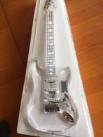 Электрическая гитара / акриловая гитара Сид светлая белая, персонализированное обслуживание