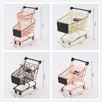 Ins hot Mini Shopping Cart Kids play house Game Props Superm...