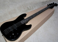 Nero 4 stringhe elettrico Jazz Bass con 3 Pickups, tastiera in palissandro, hardware nero, può essere personalizzato come Richiesta