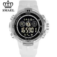 SMAEL Bluetooth Смарт Часы Шагомер Калорий Хронограф Спорт На Открытом Воздухе LED Военные Часы для Android iPhone Часы Мужчины