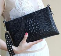 Сумки сцепления Женщины Мода Кошельки Крокодил Gran Кожаный Крест Сумка Code с Tassele 28x18см Размер Оптом на один