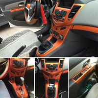 شيفروليه كروز الداخلية لوحة التحكم المركزية لوحة مقبض الباب 3D / 5D ملصقات ألياف الكربون الشارات سيارة التصميم ملحقات