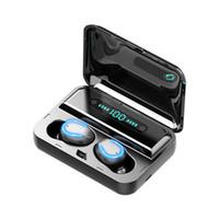 F9-5 블루투스 5.0 TWS 이어폰 디지털 디스플레이 헤드셋 터치 버튼 LED 무선 이어폰 진정한 이어 버드 스테레오 헤드폰