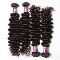 50% kapalı Bakire Saç Uzantıları Brezilyalı Saç Demeti Fırsatlar Derin Dalga İnsan Saç Örgüleri 4 adet lot Brazillian Toptan Doğal Örgü