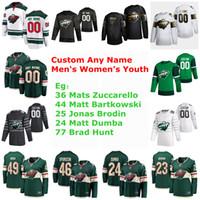 S-6XL Minnesota Wild 2020 jerseys del hockey 36 Mats Zuccarello Jersey 36 Matt Bartkowski 44 Jonas Brodin Matt Dumba Brad Hunt cosido personalizada