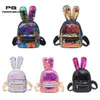 Sequins Backpack Rabbit Ears Shoulder Bag Women Girls Travel...
