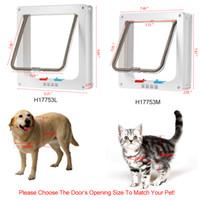 4-Way interruptores inteligentes Locking Pet Porta W / manter o gato porta da casa do cão de filhote de Suprimentos de bloqueio com trava de segurança Flap Portões ir in / out livre