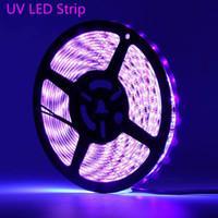 UV Viola Led strisce di luce 2835 SMD 60led / m CC 12V 395-405nm non-impermeabile del raggio ultravioletto striscia flessibile Nastro Ribbon