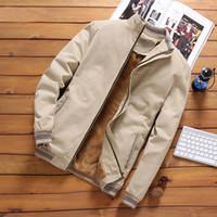 iSurvivor 2020 осень Мужских курток бомбардировщика Casual Male Outwear флис толстой теплая ветровка куртка мужских пальто бейсбол