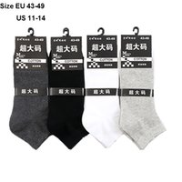 Maßgefertigte Herrensocken 5 Paar / Los Baumwollsocken Plus Large Big Size Eur 45, 46, 47, 48, 49,50 Yard Socken Calcetines Grandes MX190719