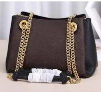 2020 عالية الجودة المرأة الكلاسيكية الكتفين حقيقي الجلد محفظة الأزهار طباعة حقائب CROSSBODY المتسوق سلسلة حقيبة