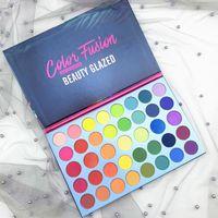 2019 nuova bellezza smaltata Eyeshadow Palette 39 colori dell'ombra di occhio di colore dell'arcobaleno Fusion tavolozza opaca Ombretto di luccichio Viso Highlighter