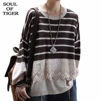 OF TIGER 2020 Korean Fashion Designer Ladies Vintage Knitwea...