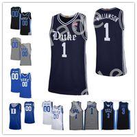 Benutzerdefinierte NCAA 2020 New Duke Blue Devils 100. Rivalität Navy Bruderschaft Basketball Jerseys Vernon Carey Jr Tre Jones College-Jerseys S-4XL
