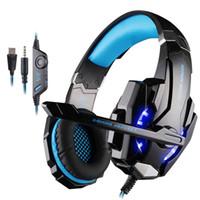 Gaming Headsets Big Headphones com Luz Mic Stereo Earphones Deep Bass para PC Computer Gamer Laptop PS4 New X-BOX