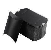 Precio barato kraft almohada caja pequeña colorido caja de caramelo embalaje boda favores cajas de regalo fiesta fiesta de cumpleaños 50pcs / lot