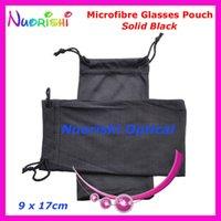 Noir ou en gros 50pcs gris Double Sunglass Lunettes Drawstring Microfibre Sac souple Eyeglass Housse Livraison gratuite CP030 T200505