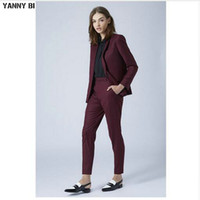 New Grape Damen-Business-Anzüge 2-teilig Blazer Set Slim Fit Damenhose passt Damen Büro Uniform elegante Hose Custom