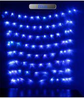 1.5 m * 1.5 m Holiday LED cuerda grande celebración ceremonia de boda iluminación de hadas Navidad navidad Led cadena luz web luces 30 unids / lote