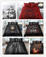 Skull Bedding Sets queen size 3D skull Duvet Cover set EU AU...